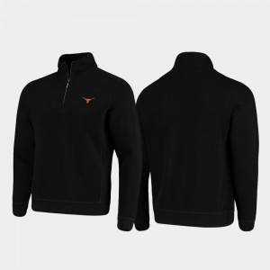 Texas Longhorns Jacket Black Half-Zip Pullover Tommy Bahama College Sport Nassau Mens