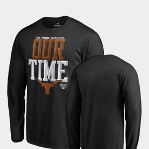 Texas Longhorns T-Shirt Black 2019 Sugar Bowl Bound Counter Long Sleeve Mens