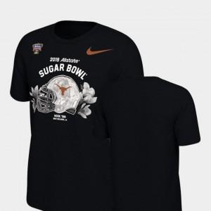 Texas Longhorns T-Shirt Mens Helmet 2019 Sugar Bowl Bound Black