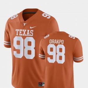 Texas Longhorns Brian Orakpo Jersey Orange Game #98 Men's College Football