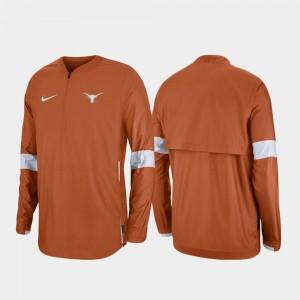Texas Longhorns Jacket 2019 Coaches Sideline Burnt Orange Quarter-Zip For Men's