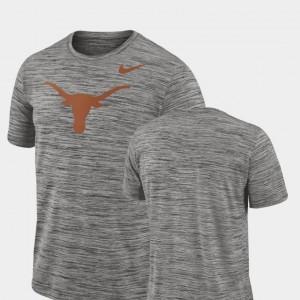 Texas Longhorns T-Shirt Performance Charcoal For Men's 2018 Player Travel Legend