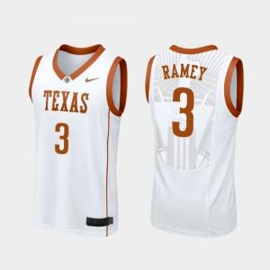Texas Longhorns Courtney Ramey Jersey College Basketball #3 For Men Replica White