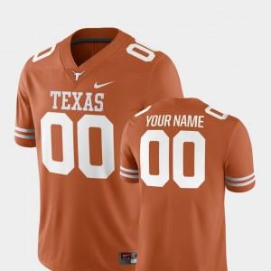 Texas Longhorns Custom Jerseys Mens College Football 2018 Game Texas Orange #00