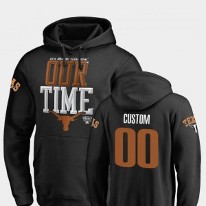 Texas Longhorns Custom Hoodie Men #00 Counter Black 2019 Sugar Bowl Bound
