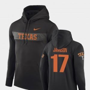 Texas Longhorns D'Shawn Jamison Hoodie Sideline Seismic #17 For Men's Anthracite Football Performance