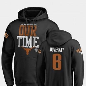 Texas Longhorns Devin Duvernay Hoodie Counter 2019 Sugar Bowl Bound #6 Black Mens