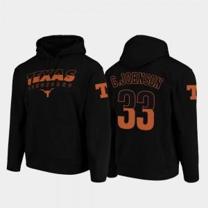 Texas Longhorns Gary Johnson Hoodie Wedge Performance Black College Football Pullover #33 For Men