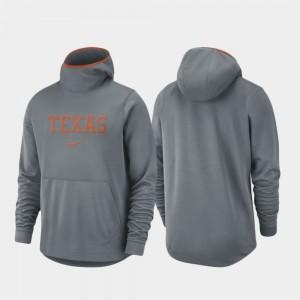 Texas Longhorns Hoodie Basketball Team Logo Pullover Men Spotlight Gray
