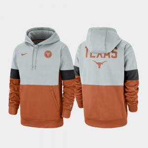Texas Longhorns Hoodie Rivalry Men Therma Performance Pullover Gray Texas Orange