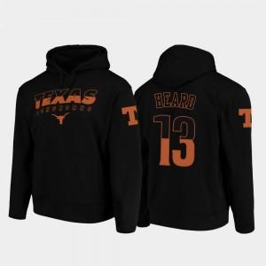 Texas Longhorns Jerrod Heard Hoodie Wedge Performance #13 Black Men's College Football Pullover