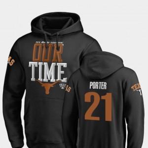 Texas Longhorns Kyle Porter Hoodie Counter 2019 Sugar Bowl Bound Mens #21 Black