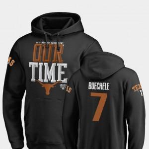 Texas Longhorns Shane Buechele Hoodie For Men's Counter Black 2019 Sugar Bowl Bound #7
