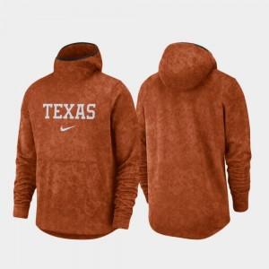 Texas Longhorns Hoodie Basketball Team Logo Pullover Mens Texas Orange Spotlight