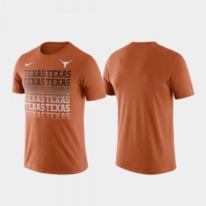 Texas Longhorns T-Shirt Texas Orange Performance Fade For Men's