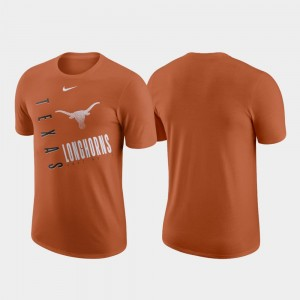 Texas Longhorns T-Shirt Performance Cotton Texas Orange Men Just Do It