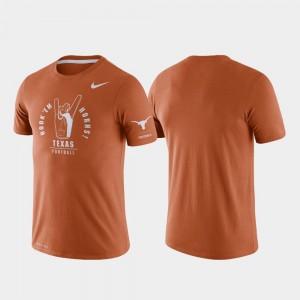 Texas Longhorns T-Shirt For Men's Texas Orange Rivalry Tri-Blend Performance