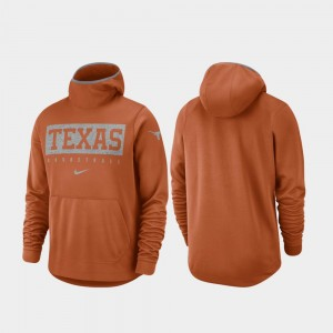 Texas Longhorns Hoodie Spotlight Basketball Texas Orange For Men
