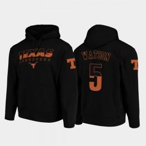 Texas Longhorns Tre Watson Hoodie College Football Pullover Black Men #5 Wedge Performance
