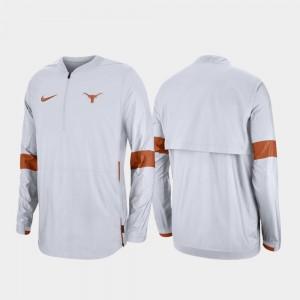 Texas Longhorns Jacket For Men White 2019 Coaches Sideline Quarter-Zip