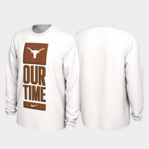 Texas Longhorns T-Shirt Our Time Bench Legend 2020 March Madness Men's White
