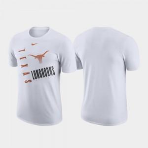 Texas Longhorns T-Shirt For Men Just Do It Performance Cotton White