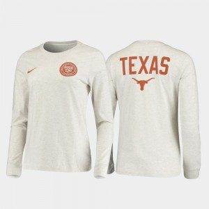 Texas Longhorns T-Shirt For Men Statement Long Sleeve Rivalry White