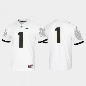 UCF Knights Jersey #1 Game White For Men Untouchable
