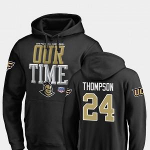 UCF Knights Bentavious Thompson Hoodie Black Counter 2019 Fiesta Bowl Bound #24 Mens