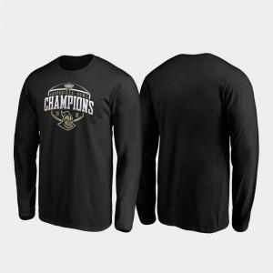 UCF Knights T-Shirt 2019 Gasparilla Bowl Champions Mens Black Corner Long Sleeve