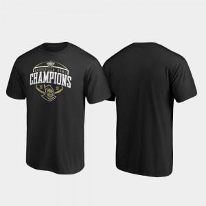 UCF Knights T-Shirt Corner 2019 Gasparilla Bowl Champions Black For Men