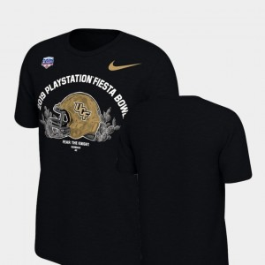 UCF Knights T-Shirt 2019 Fiesta Bowl Bound For Men's Black Helmet
