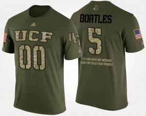 UCF Knights Blake Bortles T-Shirt #5 Short Sleeve With Message Camo Military For Men
