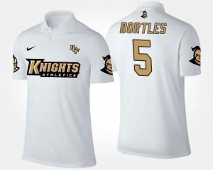 UCF Knights Blake Bortles Polo #5 White Men's
