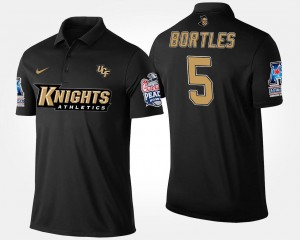 UCF Knights Blake Bortles Polo American Athletic Conference Peach Bowl #5 Navy For Men Bowl Game
