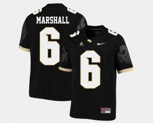 UCF Knights Brandon Marshall Jersey For Men's American Athletic Conference Black College Football #6