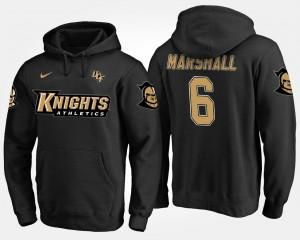 UCF Knights Brandon Marshall Hoodie #6 Black Mens