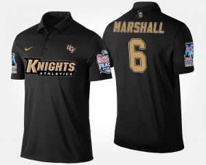 UCF Knights Brandon Marshall Polo #6 American Athletic Conference Peach Bowl Men's Bowl Game Navy