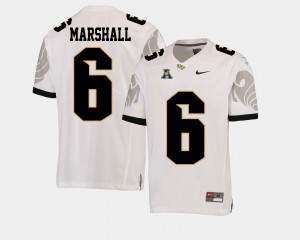 UCF Knights Brandon Marshall Jersey College Football #6 White For Men's American Athletic Conference