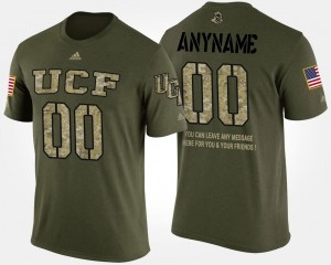 UCF Knights Custom T-Shirts Short Sleeve With Message Camo #00 Military For Men
