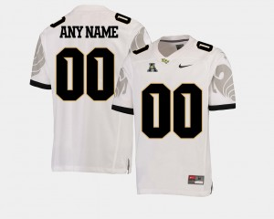 UCF Knights Customized Jerseys College Football American Athletic Conference #00 White Mens
