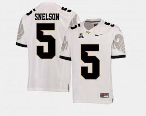 UCF Knights Dredrick Snelson Jersey White American Athletic Conference #5 Mens College Football