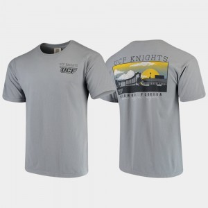 UCF Knights T-Shirt Men Gray Campus Scenery Comfort Colors