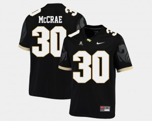 UCF Knights Greg McCrae Jersey College Football American Athletic Conference Mens #30 Black