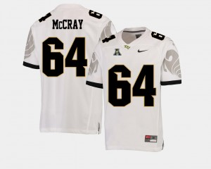 UCF Knights Justin McCray Jersey White #64 College Football American Athletic Conference Mens