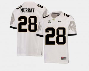 UCF Knights Latavius Murray Jersey White American Athletic Conference #28 College Football For Men's