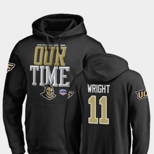 UCF Knights Matthew Wright Hoodie Counter 2019 Fiesta Bowl Bound For Men #11 Black