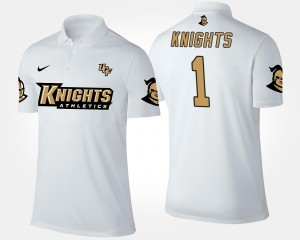 UCF Knights Polo White No.1 Short Sleeve #1 For Men