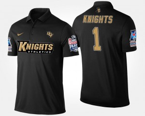 UCF Knights Polo Navy Men's No.1 American Athletic Conference Peach Bowl Bowl Game #1