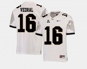 UCF Knights Noah Vedral Jersey White #16 Mens American Athletic Conference College Football
